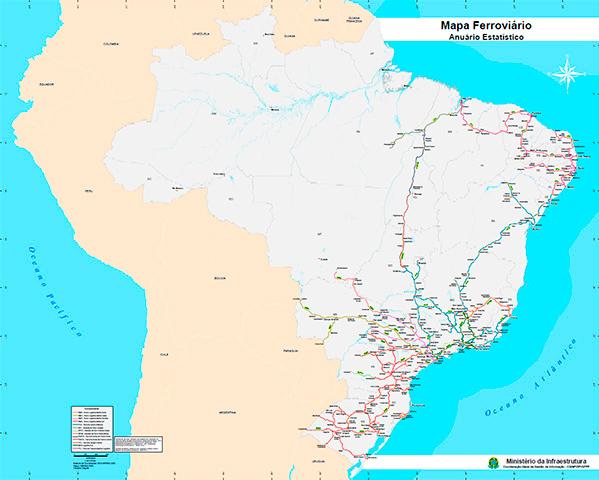 Mapa Ferroviário Concedidas