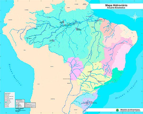 Mapa Hidroviário