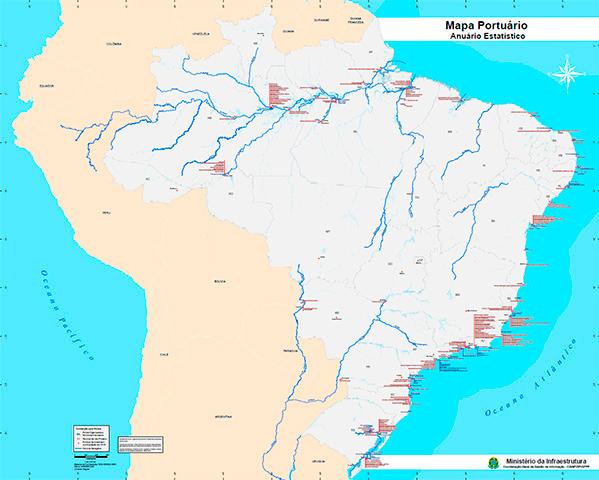 Mapa Portuário