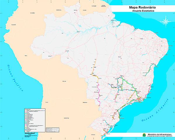 Mapa Rodoviário Concedidas